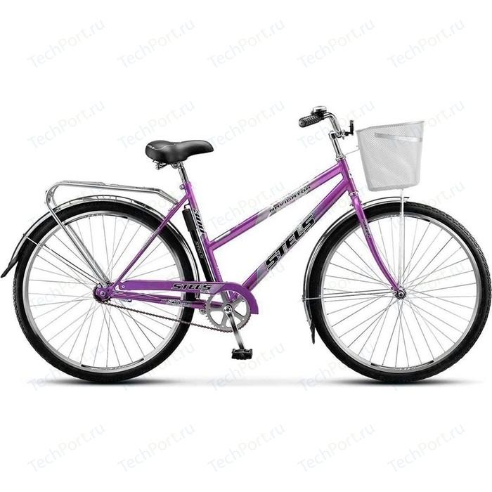 Велосипед Stels Navigator 300 Lady 28 Z010 (2018) 20 Фиолетовый (С КОРЗИНОЙ)