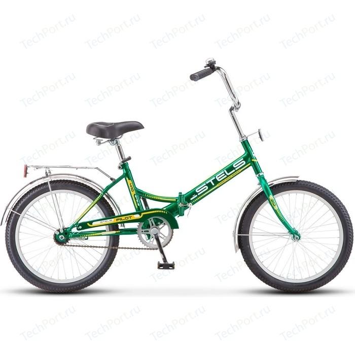 Велосипед Stels Pilot 410 20 Z011 (2018) 13.5 Зеленый/желтый велосипед stels pilot 350 20 z011 2017