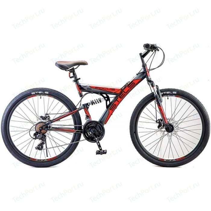 Велосипед Stels Focus MD 26 21 sp V010 (2018) 18 Черный/красный велосипед stels focus v 18 sp 2017