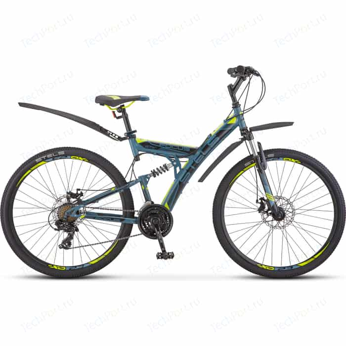 Велосипед Stels Focus MD 27.5 21-sp V010 19 Серый/жёлтый