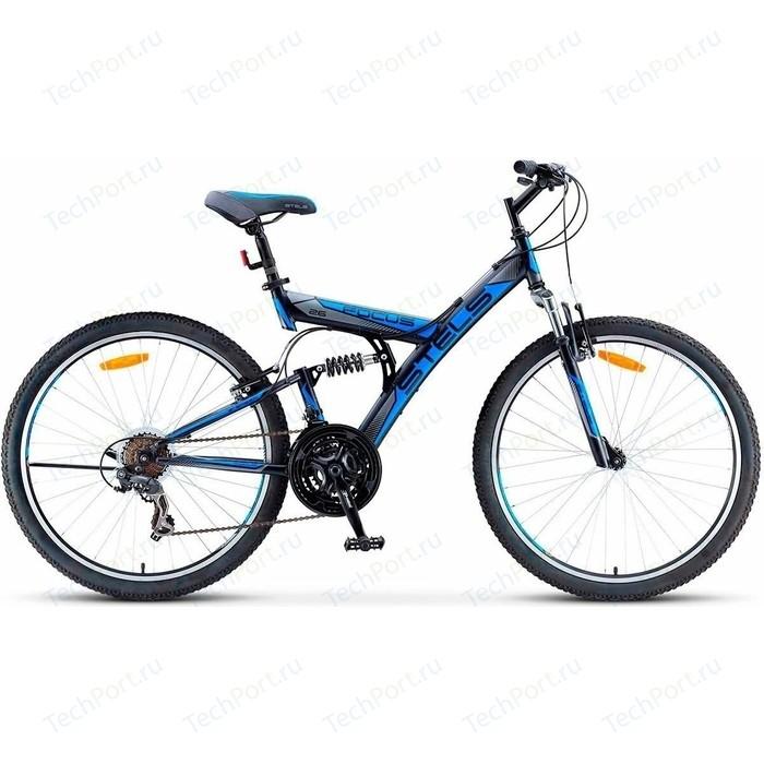 Велосипед Stels Focus V 26 18 sp V030 (2018) 18 Черный/синий велосипед stels focus v 18 sp 2017