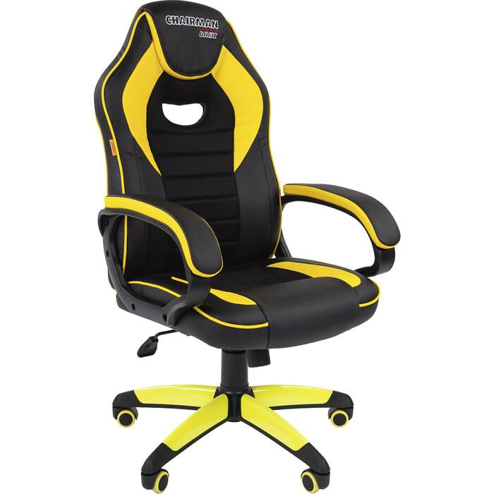 Офисноекресло Chairman Game 16 экопремиум черный/желтый