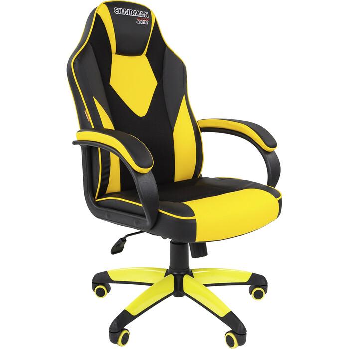 Офисноекресло Chairman Game 17 экопремиум черный/желтый