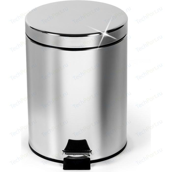 Ведро для мусора Art moon круглое с педалью и внутренним ведром 3 л,сталь,пластик, 17х27 см