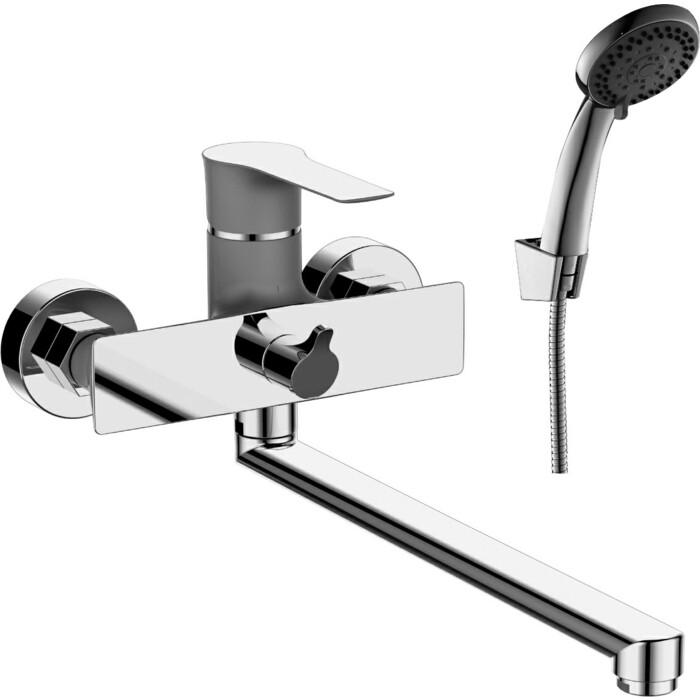 Смеситель для ванны Rossinka Silvermix с душем, перламутр\хром (RS35-32PC)