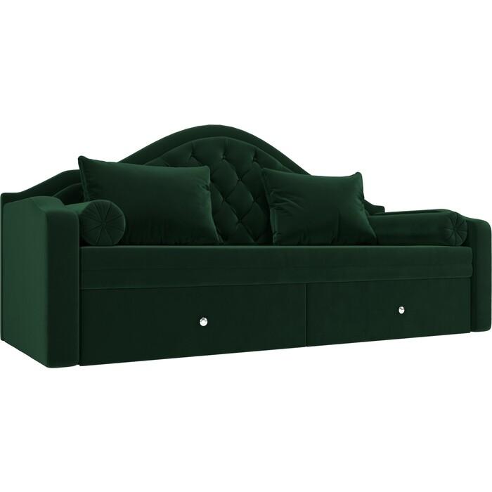 Прямой детский диван АртМебель Сойер велюр MR зеленый