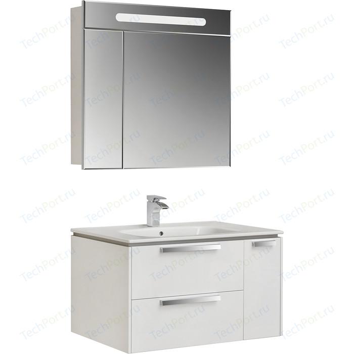 Мебель для ванной Roca Lago 80 белый глянец