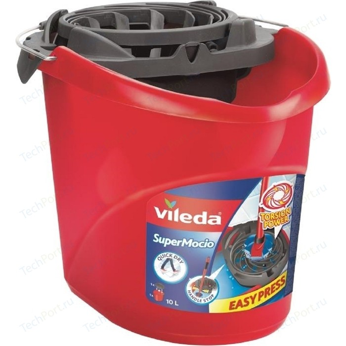 Ведро VILEDA с системой отжима для швабры Вишмоп