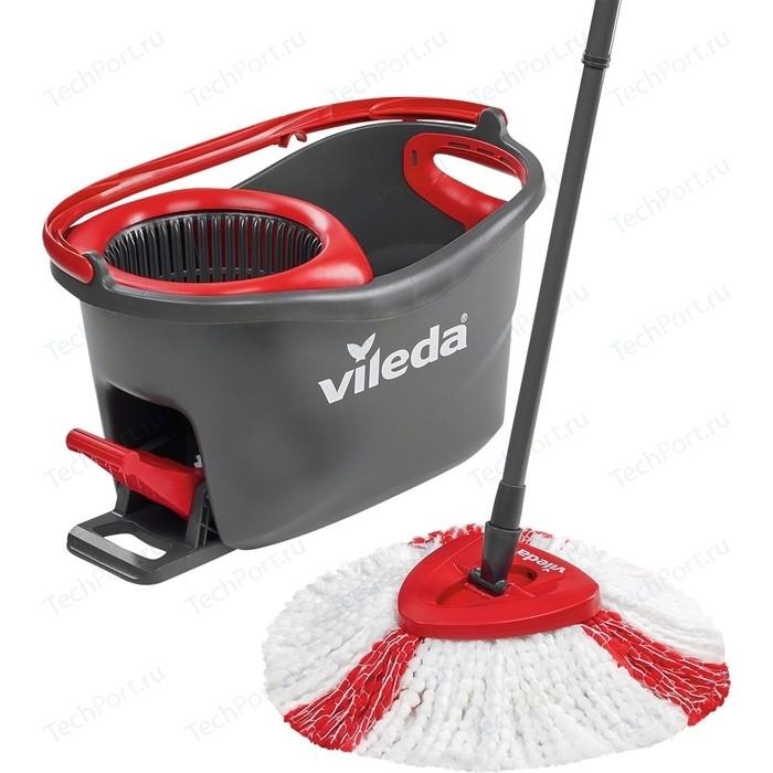 Набор для уборки VILEDA Easy Wring and Clean Turbo Легкий отжим (швабра + ведро с педальным отжимом 12л)151153