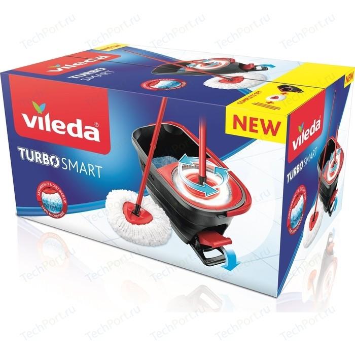 Набор для уборки VILEDA Turbo Smart (швабра + ведро с педальным отжимом 10л)