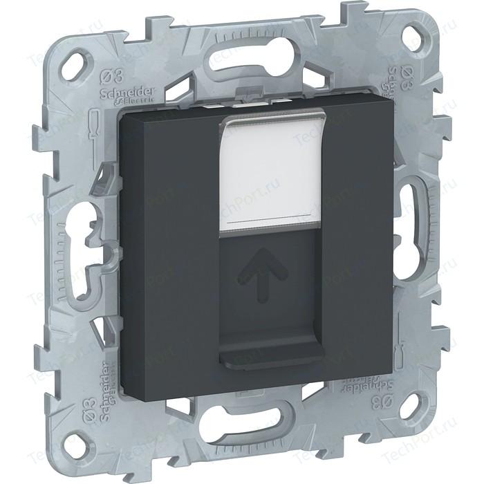 Розетка компьютерная Schneider Electric UNICA NEW RJ45 категории 5е UTP антрацит (NU541154)