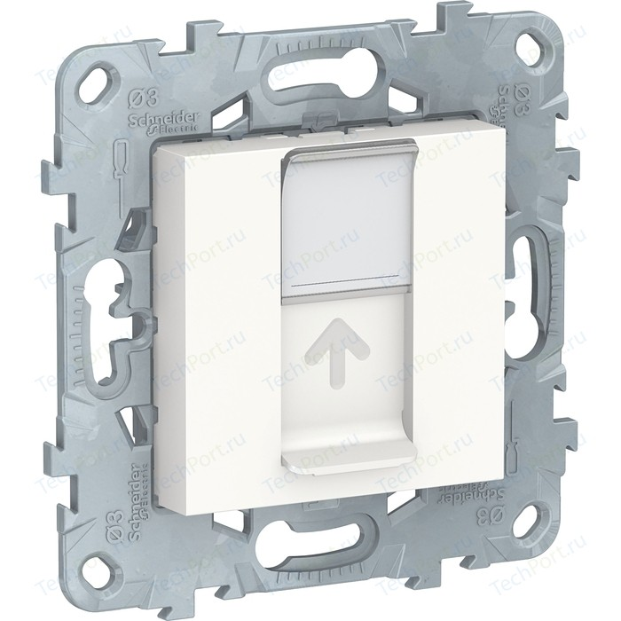 Механизм компьютерной розетки Schneider Electric UNICA NEW RJ45 категории 5е UTP белый (NU541118)