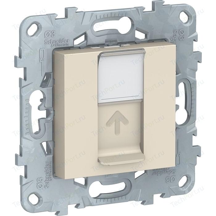 Механизм компьютерной розетки Schneider Electric UNICA NEW RJ45 категории 5е UTP бежевый (NU541144)