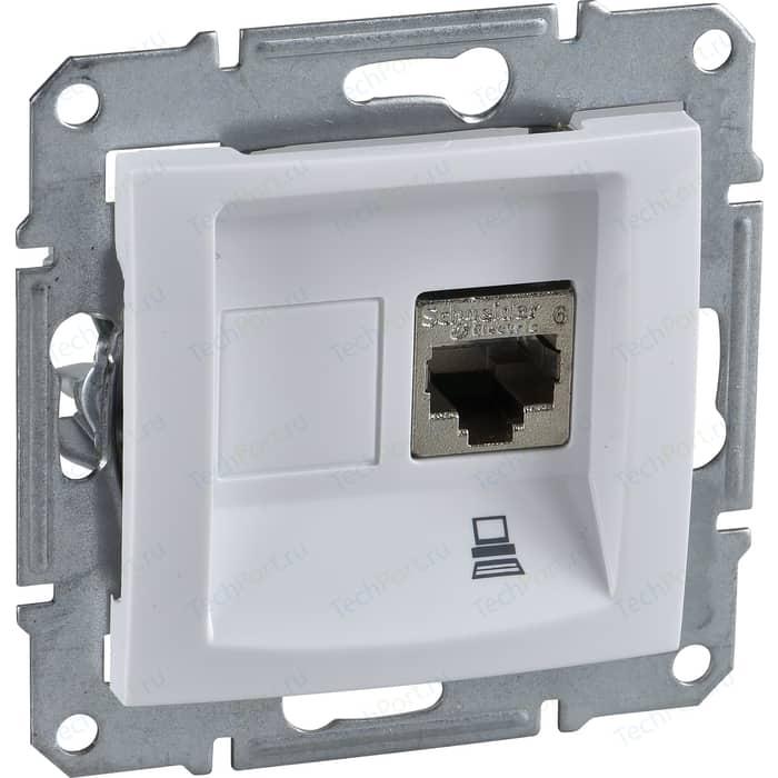 Механизм компьютерной розетки Schneider Electric СП Sedna RJ45 белый (SDN4300121)