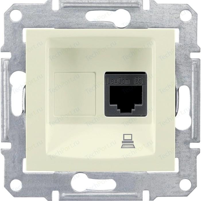 Механизм компьютерной розетки Schneider Electric СП Sedna RJ45 бежевый (SDN4300147)