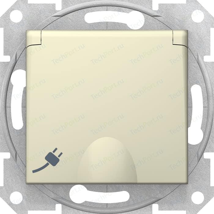 Механизм розетки с защитными шторками и заземлением Schneider Electric СП Sedna защитной крышкой бежевый (SDN3100147)