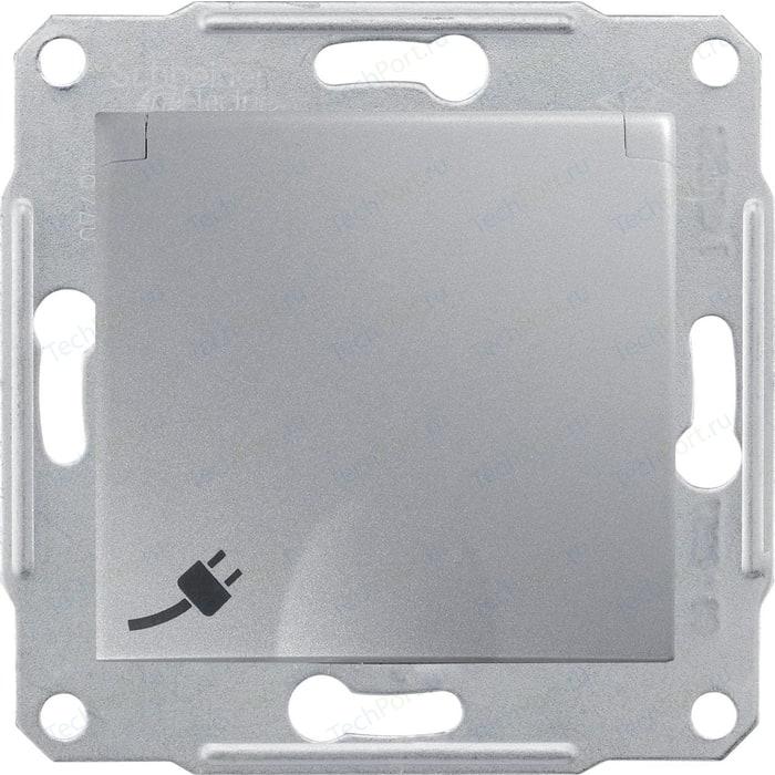 Механизм розетки с защитными шторками и заземлением Schneider Electric СП Sedna защитной крышкой алюминий (SDN3100160)