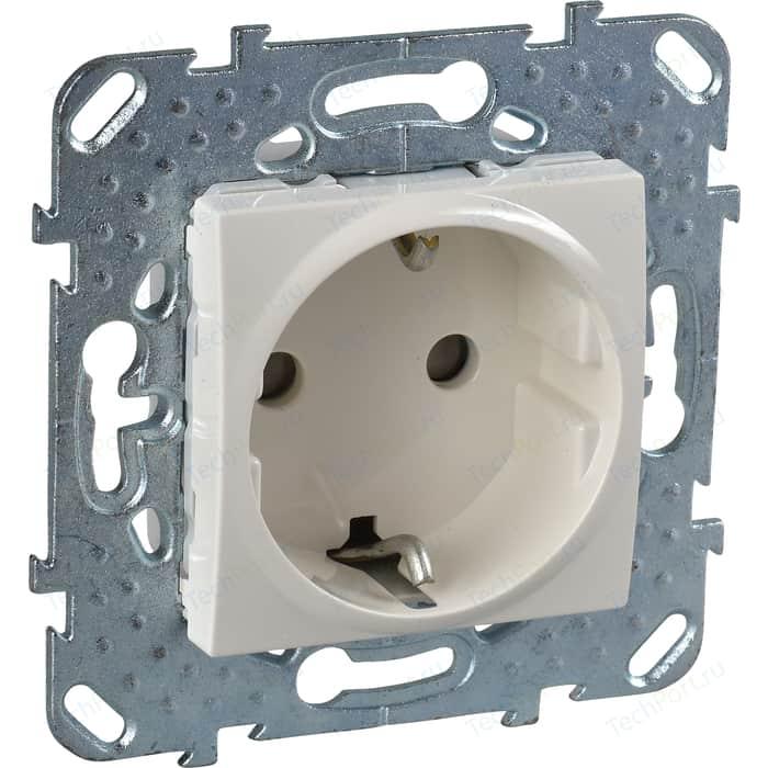 Механизм розетки с защитными шторками и заземлением Schneider Electric СП Unica бежевый (MGU5.037.25ZD) механизм розетки schneider electric s53r471 odace