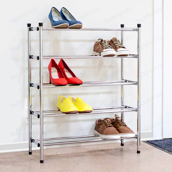 Этажерка Tatkraft Expert для обуви цвет: серебристый, 78x63.5x22.5 см