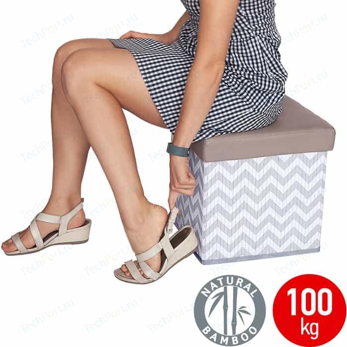 Оттоманка Tatkraft FORT складная прочная 36 L - удобный стул, выдерживает до 100 кг