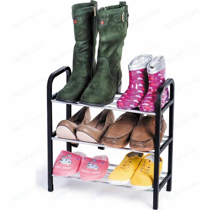 Этажерка для обуви ArtMoon CALGARY 3-х ярусная. Материал: сталь, пластик. Размер: 41.7Шх19Гх44В см