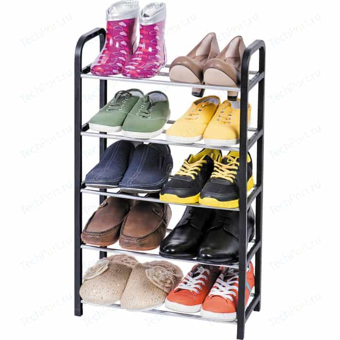 Этажерка для обуви ArtMoon LABRADOR 5-ти ярусная. Размер: 41.7Шх19Гх70В см . Цвет: серый, черный