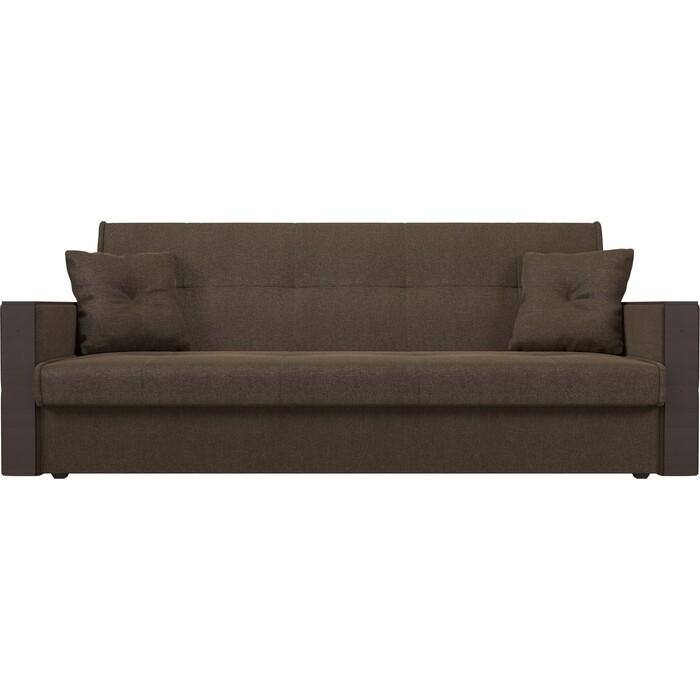 Фото - Прямой диван АртМебель Валенсия рогожка коричневый книжка прямой диван артмебель валенсия экокожа коричневый книжка