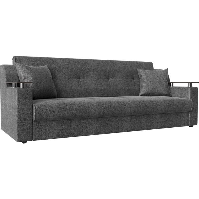 Прямой диван АртМебель Сенатор рогожка серый книжка диван книжка ладья джаз серый