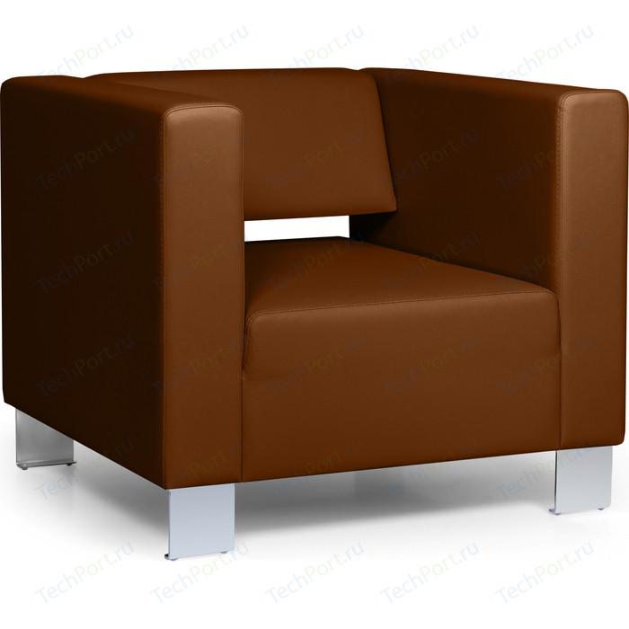Кресло Euroforma Горизонт кожа рулонная dakota, 116 коричневый
