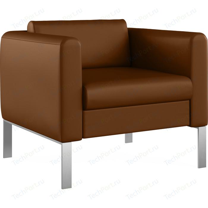 Кресло Euroforma Модерн кожа рулонная dakota, 116 коричневый