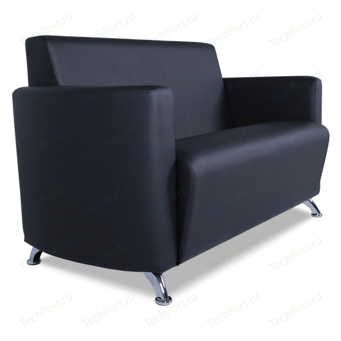 Двухместный диван Euroforma Сити ИК P2 euroline, 9100 черный