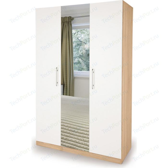 Шкаф комбинированный Гамма Шарм 135х60 дуб сонома+белый