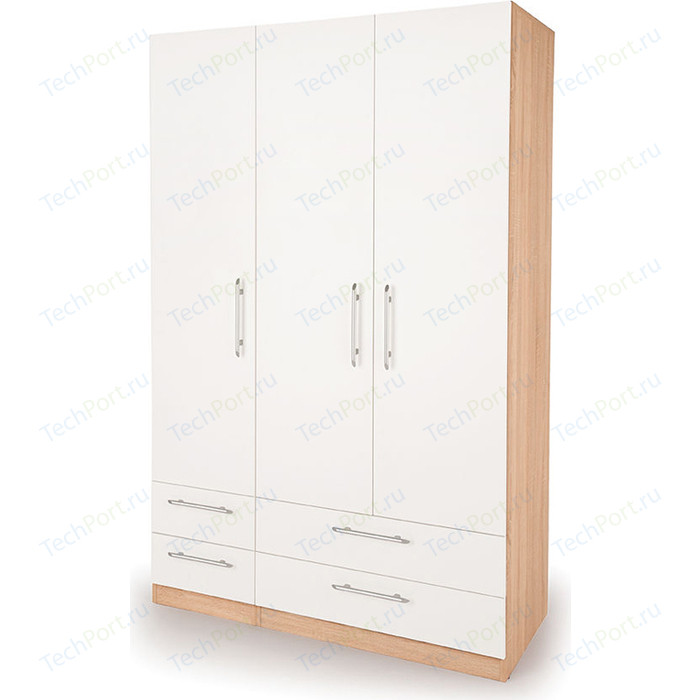 Шкаф комбинированный Гамма Шарм 90х45 дуб сонома+белый шкаф комбинированный гамма шарм 150х45 белый дуб сонома