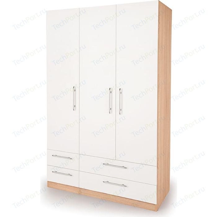 Шкаф комбинированный Гамма Шарм 150х45 дуб сонома+белый шкаф комбинированный гамма шарм 150х45 белый дуб сонома