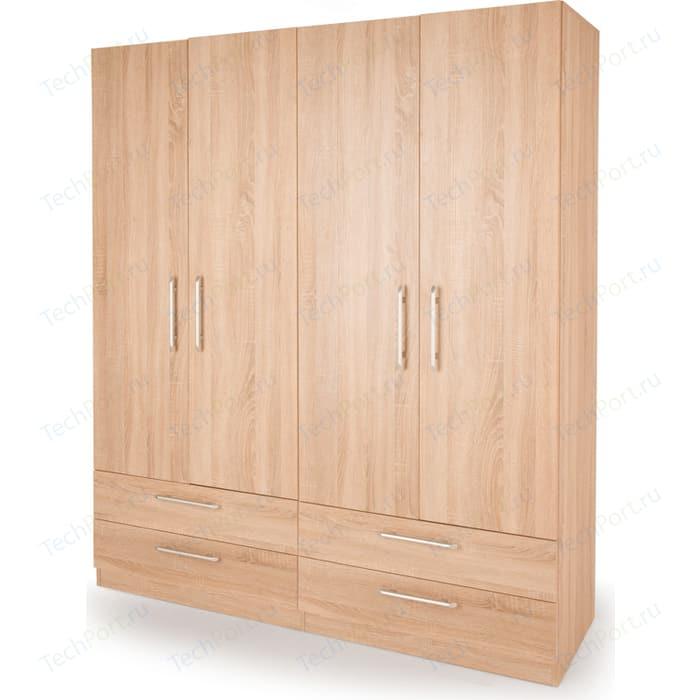 Шкаф комбинированный Гамма Шарм 140х45 дуб сонома шкаф для одежды гамма шарм 90х60 дуб сонома