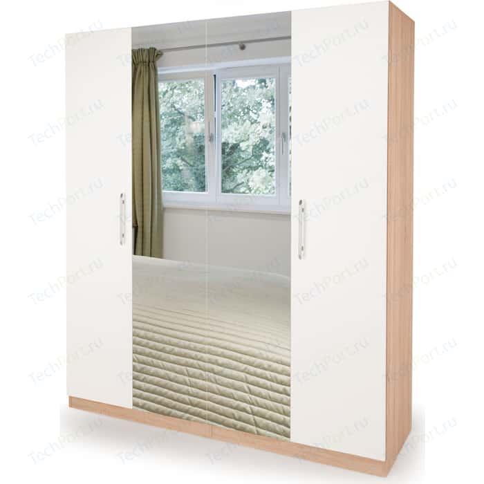 Шкаф комбинированный Гамма Шарм 140х60 дуб сонома+белый шкаф комбинированный гамма шарм 150х45 белый дуб сонома