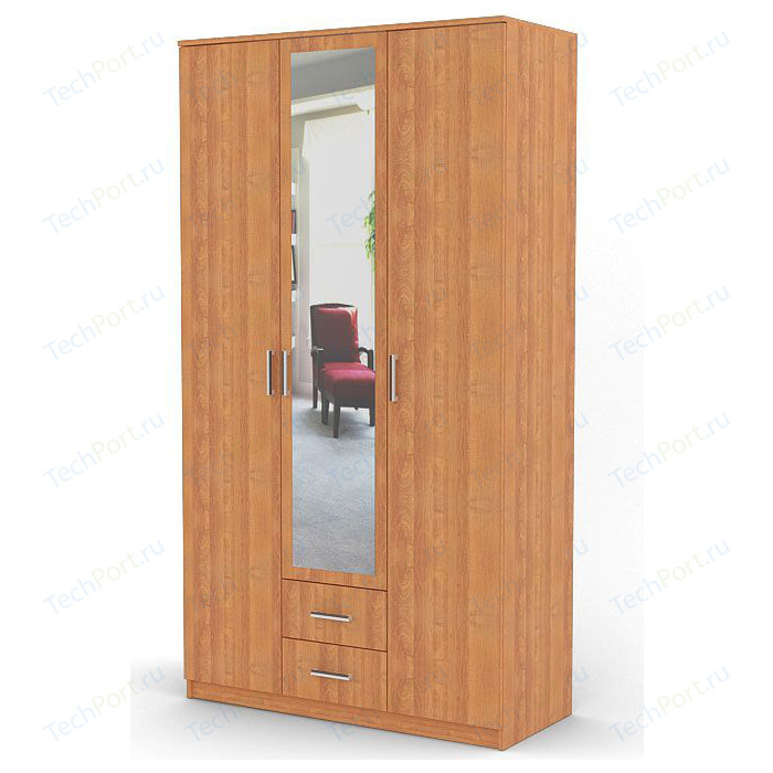 Шкаф распашной Гамма Трио 105х60 ольха