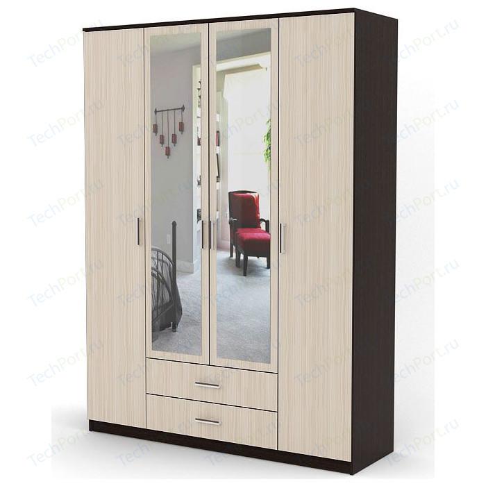 Шкаф комбинированный Гамма Квартет 120х60 венге+вяз