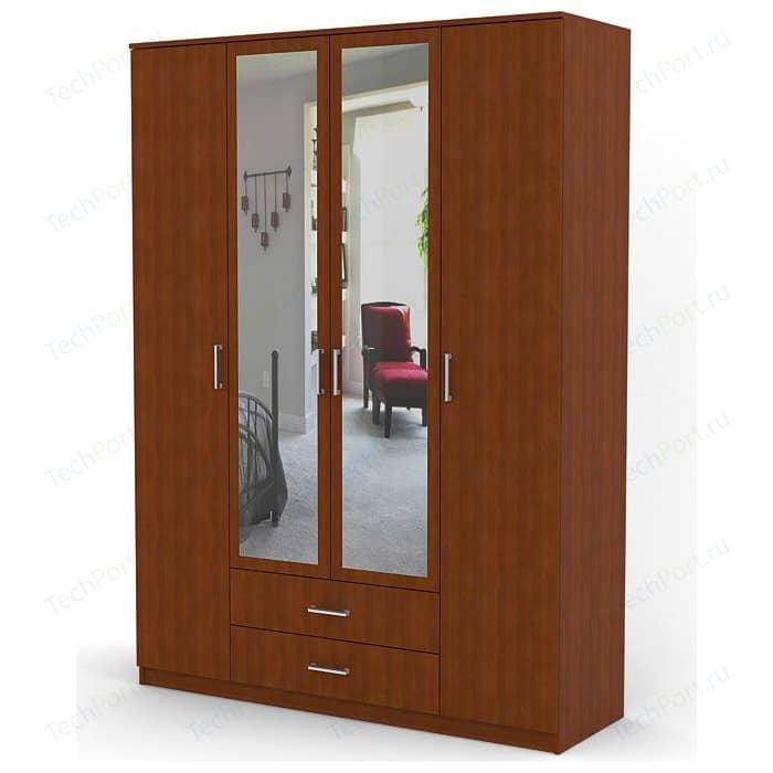 Шкаф комбинированный Шарм-Дизайн Квартет 160х60 вишня академия