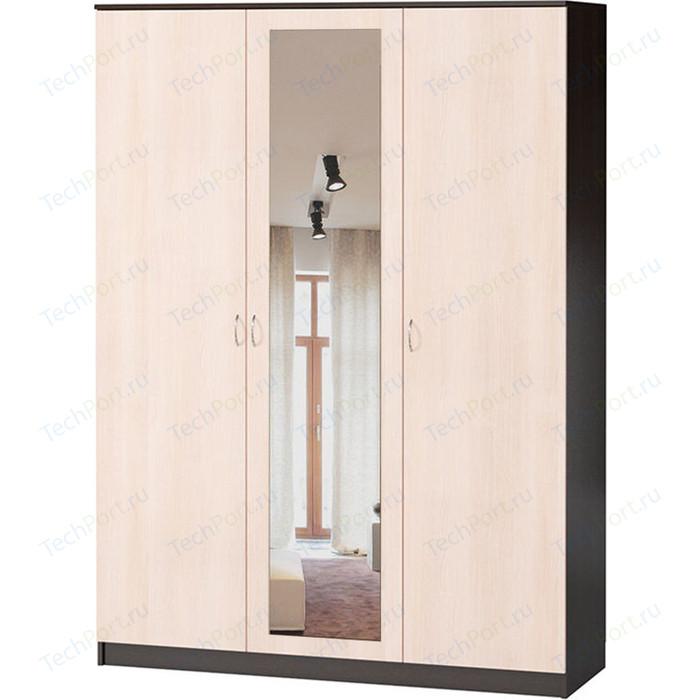 Шкаф комбинированный Гамма Лайт 150х60 вяз с зеркалом шкаф комбинированный гамма лайт 150х60 дуб сонома с зеркалом