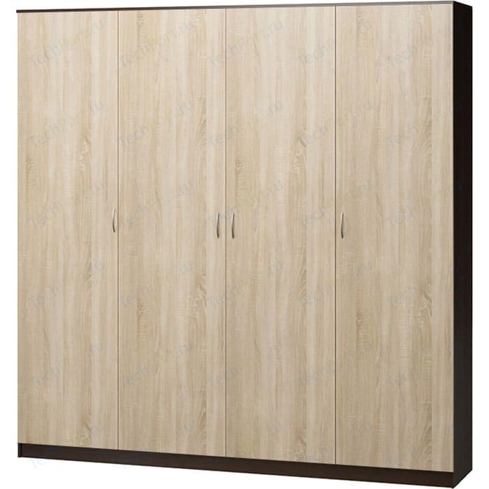 Шкаф четырехдверный Гамма Лайт 140х60 венге+дуб сонома шкаф комбинированный гамма лайт 140х60 дуб сонома с зеркалом