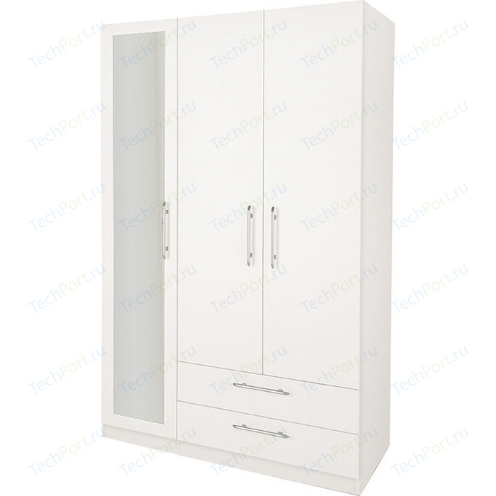 Шкаф Гамма Шарм 90х60 белый комбинированный