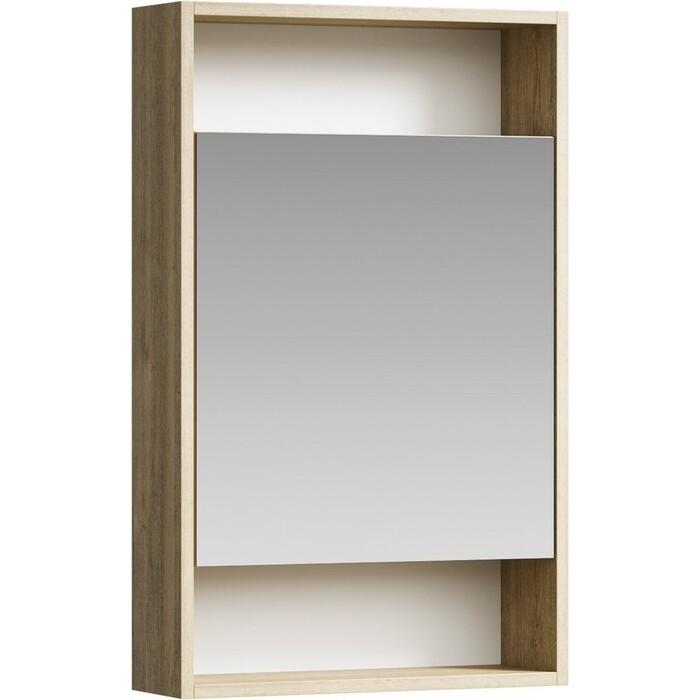 Зеркальный шкаф Aqwella City 50х80 дуб балтийский (SIT0405DB)