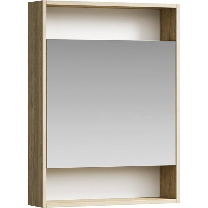 Зеркальный шкаф Aqwella City 60х80 дуб балтийский (SIT0406DB)
