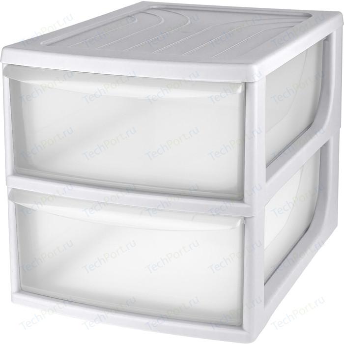Органайзер Бытпласт комод настольный , формат А4, 2 ящика, 260x368x265 мм, серый