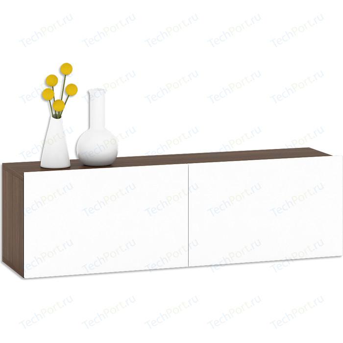 Шкаф навесной Моби Гринвич 08.118 орех/белый