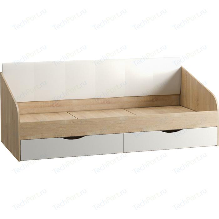 Кровать одинарная Моби Линда 01.60 дуб сонома/белый/кз белый шкаф навесной моби линда 313 160 дуб сонома белый
