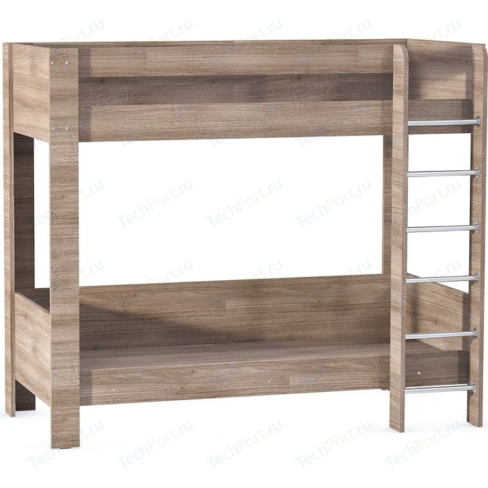 Кровать двухъярусная Моби Ника 438 ясень темный кухонный гарнитур столлайн ника ясень к3