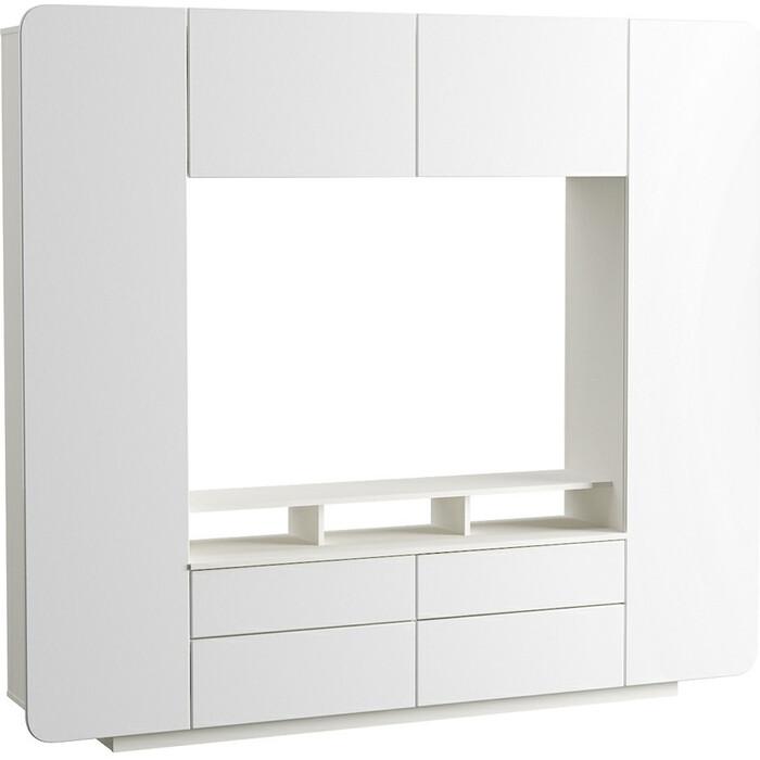 Шкаф комбинированный Моби Румба 03.272 белый/белый глянец