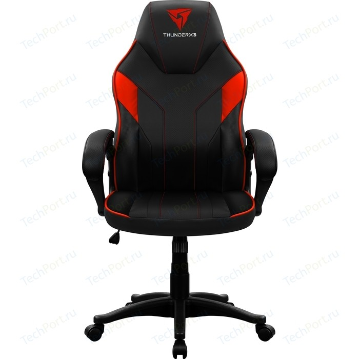 Кресло компьютерное ThunderX3 EC1 black-red air